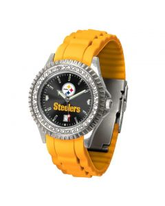 Pittsburgh Steelers Women's Sparkle Gold Band Watch