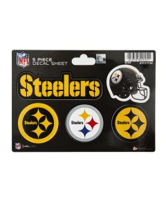 Pittsburgh Steelers 5 Piece Decal Sheet