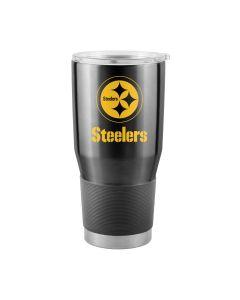 Pittsburgh Steelers 30oz. Stainless Steel Stripe Tumbler