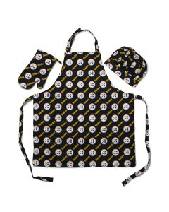 Pittsburgh Steelers Apron, Oven Mitt, and Chef Hat Set