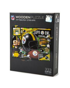 Pittsburgh Steelers Retro Series Wooden Puzzle
