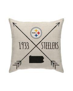 Pittsburgh Steelers Cross Arrows Pillow