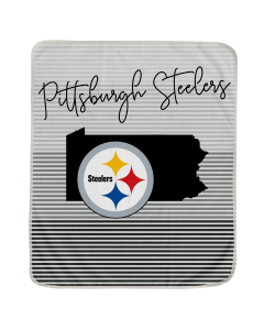 "Pittsburgh Steelers State Stripe Ultra Fleece 60""x70"" Throw"
