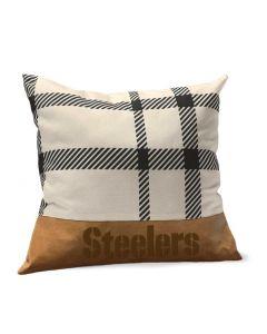 Pittsburgh Steelers Plaid Farmhouse Pillow