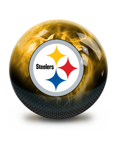 Pittsburgh Steelers On Fire Undrilled Bowling Ball