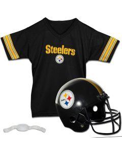 Pittsburgh Steelers Jersey & Helmet Uniform Set