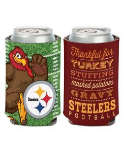 Pittsburgh Steelers Thankful for Turkey & Steelers Football Can Coolie