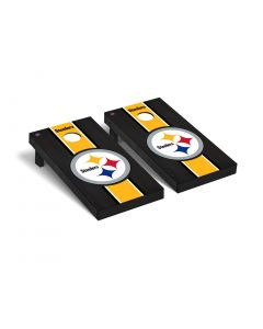Pittsburgh Steelers Premium 2' x 4' Onyx Stained Stripe Cornhole Boards