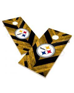Pittsburgh Steelers 2' x 4' Solid Wood Cornhole Boards