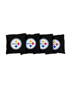 Pittsburgh Steelers Black All-Weather Cornhole Bags - set of 4