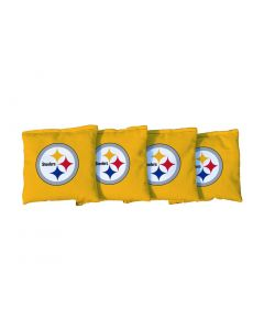 Pittsburgh Steelers Gold All-Weather Cornhole Bags - set of 4