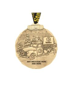 Pittsburgh Steelers Wendell August Forge Customizable Bronze Tailgating Ornament