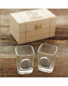 Pittsburgh Steelers Wendell August Forge Customizable 2 Piece Aluminum Shot Glass Set