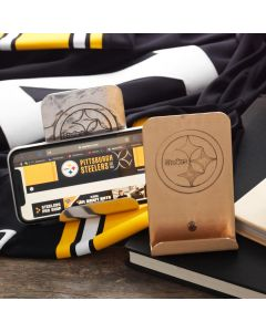 Pittsburgh Steelers Wendell August Forge Customizable Logo Bronze Phone Holder