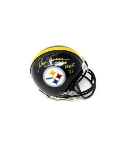 Pittsburgh Steelers #66 Alan Faneca Autographed Riddell Mini Helmet with Inscription