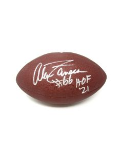 Pittsburgh Steelers #66 Alan Faneca Autographed NFL Replica 'The Duke' Football with Inscription
