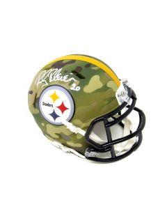 Pittsburgh Steelers #20 Rocky Bleier Autographed Riddell Camo Mini Helmet