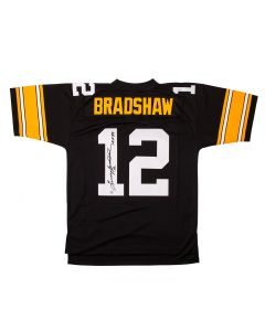 Pittsburgh Steelers #12 Terry Bradshaw Autographed Mitchell & Ness Limited Jersey with Inscription