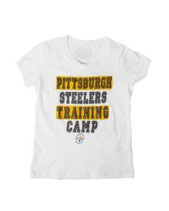 Pittsburgh Steelers Girls New Era Glitter Training Camp Short Sleeve T-Shirt