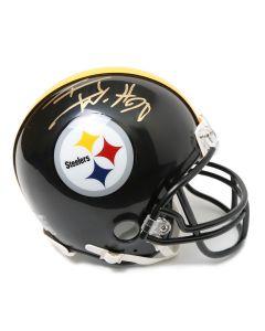 Pittsburgh Steelers #90 T.J. Watt Autographed Riddell Mini Helmet