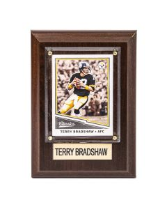 Pittsburgh Steelers #12 Terry Bradshaw 4x6 Plaque