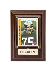 Pittsburgh Steelers #75 Joe Greene 4x6 Plaque