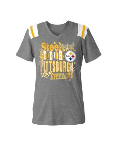 Pittsburgh Steelers Girls' New Era Love Steelers Short Sleeve Tee