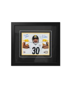Pittsburgh Steelers #30 James Conner 'Strong' Signed Framed 8x10 Photo