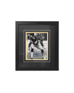 Pittsburgh Steelers #47 Mel Blount 'Black and White' Signed Framed 8x10 Photo