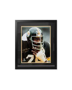 Pittsburgh Steelers #75 Joe Greene Close Up Signed Framed 16x20 Photo