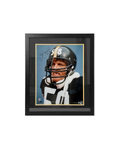 Pittsburgh Steelers #58 Jack Lambert 'Scowl' Signed Framed 16x20 Photo