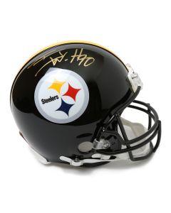 Pittsburgh Steelers #90 T.J. Watt Autographed Riddell ProLine Authentic Full Size Helmet