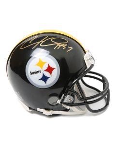 Pittsburgh Steelers #97 Cameron Heyward Autographed Riddell Mini Helmet