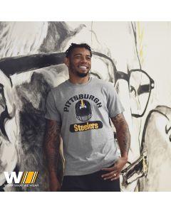 Pittsburgh Steelers '47 Splitter Speed Helmet Short Sleeve T-Shirt
