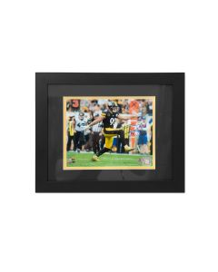 Pittsburgh Steelers #90 T.J. Watt Home Celebration Signed Framed 8x10 Photo