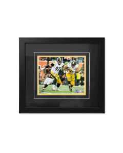 Pittsburgh Steelers #91 Tuitt and #97 Heyward Dual Signed Framed 8x10 Photo
