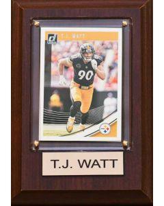 Pittsburgh Steelers #90 T.J. Watt 4x6 Plaque
