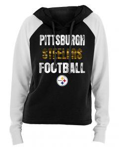 Pittsburgh Steelers Women's Foil Raglan Hoodie