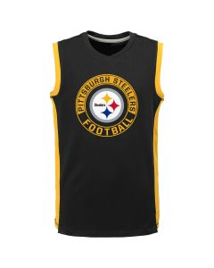 Pittsburgh Steelers Boy's PreGame Muscle Tee