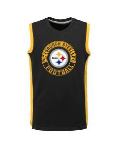 Pittsburgh Steelers Boy's PreGame Muscle Tee