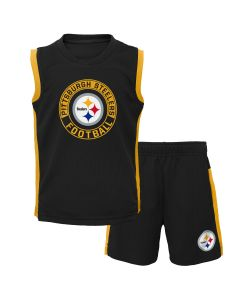 Pittsburgh Steelers Little Boy's The Leader Muscle Tee and Short Set