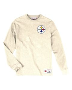 Pittsburgh Steelers Mitchell & Ness Men's Left Chest Patch Long Sleeve Tee