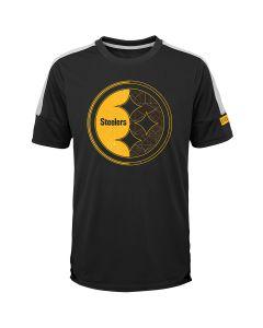Pittsburgh Steelers Boy's Exclusive Feel the Rush Short Sleeve Tee