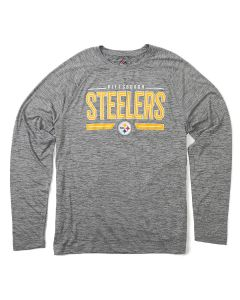 Pittsburgh Steelers Men's On to the Win Long Sleeve Performance Tee