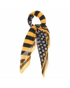 Pittsburgh Steelers Lightweight Diagonal Stripe Square Scarf