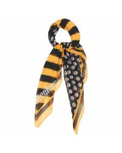 Pittsburgh Steelers Lightweight Diagonal Stripe Square Scarf