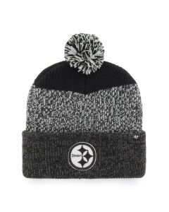 Pittsburgh Steelers '47 Static Cuff Black and Grey Knit Hat