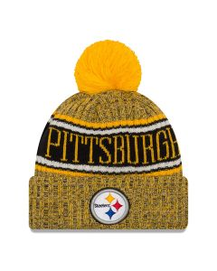 Pittsburgh Steelers New Era Sport Gold Knit Hat