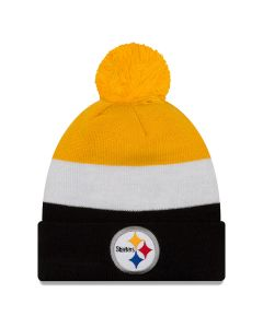 Pittsburgh Steelers New Era Triblock Knit Hat