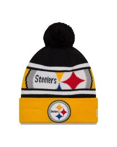 Pittsburgh Steelers New Era Callout Pom Knit Hat